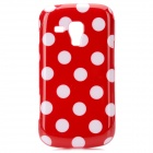 Polka Dot Pattern Protective TPU Back Case for Samsung S7562 - Red + White