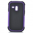 3-in-1 Protective Silicone Back Case PC Cover for Samsung Galaxy S III Mini - Purple