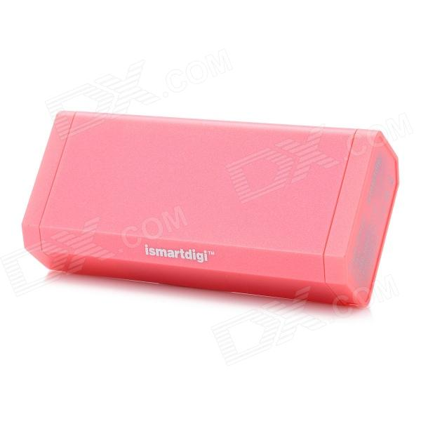 Ismartdigi IP5011PK 6000mAh Mobile Power Battery Charger - Pink стилус oem 2 3 1 apple iphone ipad ipod samsung htc lg nokia all mobile phones tablet