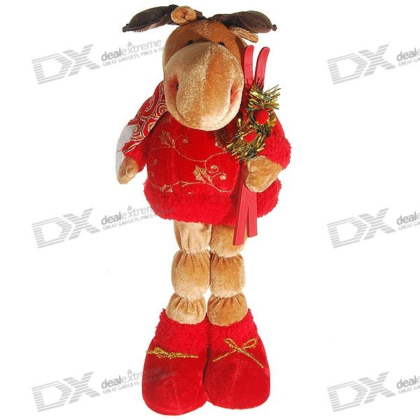Plan-to-Skiing Christmas Deer Doll (40cm Tall)
