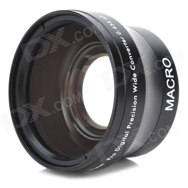 37mm 0.45X Wide Angle + Macro High Definition Lens - Black 37mm high definition 0 45x wide angle macro lens for iphone samsung smartphone camera black