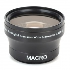 37mm 0.45X Wide Angle + Macro High Definition Lens - Black