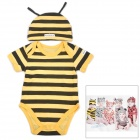 DOOMAGIC Cute Bee Style Costume w/ Hat for Children - Yellow + Black