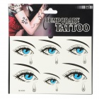 YM-K060 Fashionable Crying Eyes Pattern Tattoo Paper Sticker - Black + Blue