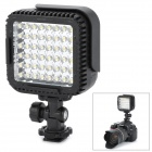 Nanguang CN-LUX480 2.9W 330lm 5600K 48-LED Video Light w/ Filter for Camera - Black (3 x AA)