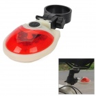 7-Mode 5-LED Red Light Bicycle Tail Light - Red + White (2 x AAA)