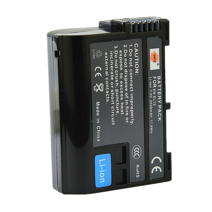 DSTE EN-EL15 Replacement 7V 2550mAh Battery for Nikon D810A / D7200 / D750 / D810 / D800 / D800E