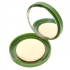 K0171# SPF20 Green Tea Natural Pressed Powder w/ Sponge Puff & Mirror - Ivory White
