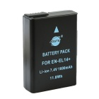 DSTE EN-EL14 1350mAh Lithium Full Decoded Battery for NIKON / D5100 / D3200 / D3100 + More - Black