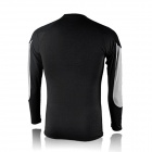 NUCKILY NY0917 Cycling Bicycle Quick Dry Long Sleeves Thermal Warm Top - Black (Size M)