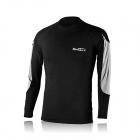NUCKILY NY0917 Cycling Bicycle Quick Dry Long Sleeves Thermal Warm Top - Black (Size L)
