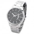 WILON 1090G Men's Stainless Steel Band Quartz Analog Wrist Watch w/ Calendar - Silver (1 x SR626SW)