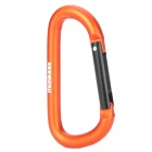 Munkees 3208 D-Shape Aluminum Alloy Quick-Release Carabineer Hook - Orange + Black