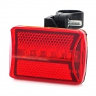 001 Bicicleta 7-Mode 5-LED Light Red Tail Luz de advertencia de seguridad - Rojo + Negro (2 x AA)