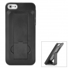 Protective Plastic Hard Back Case w/ Stand for Iphone 5 - Black