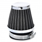 Mushroom Head Style Stainless Steel Motorcycle Air Filter for ATV / Off-Road - Silver + Black (54mm)