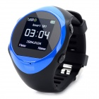 "PG88 GSM Watch Phone w/ 1.4"" LCD Screen, Quad-Band, GPS Positioning and SOS - Blue + Black"