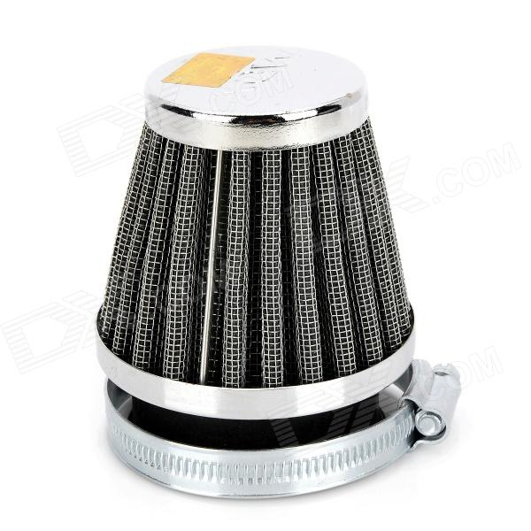 Mushroom Head Style Stainless Steel Motorcycle Air Filter for ATV / Off-Road - Silver + Black (50mm)