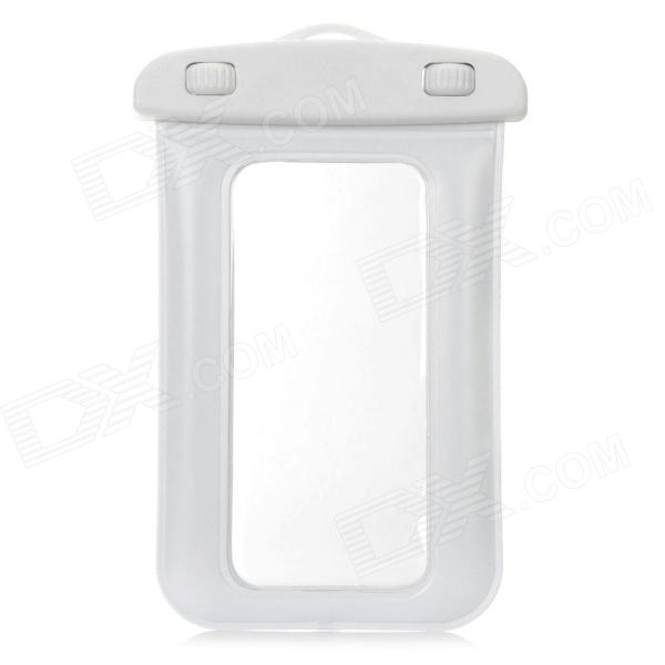 SM-C15 Protective Waterproof Bag Case w/ Strap for Iphone 5 + More - White