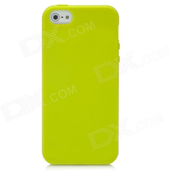 Protective Silicone Soft Back Case for Iphone 5 - GreenSilicone Cases<br>ModelsIphoneQuantity1MaterialSiliconeCompatibleForm  ColorGreenOther FeaturesProtectsPacking List<br>