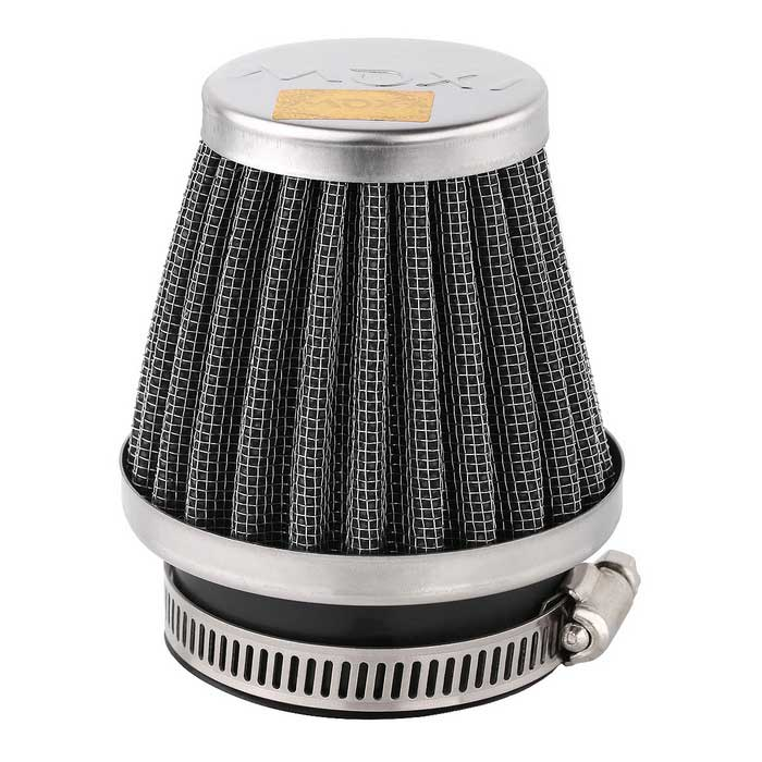 52mm Diameter Steel Wire Mesh Air Filter for Motorcycle / Off-road Vehicle - Silver + Black new 120 mesh 125 micron stainless steel woven wire cloth screen filter 30x90cm for home diy tools