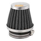 52mm Diameter Steel Wire Mesh Air Filter for Motorcycle / Off-road Vehicle - Silver + Black