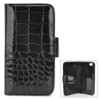 Alligator Pattern Protective PU Leather Case for Iphone 5 - Black