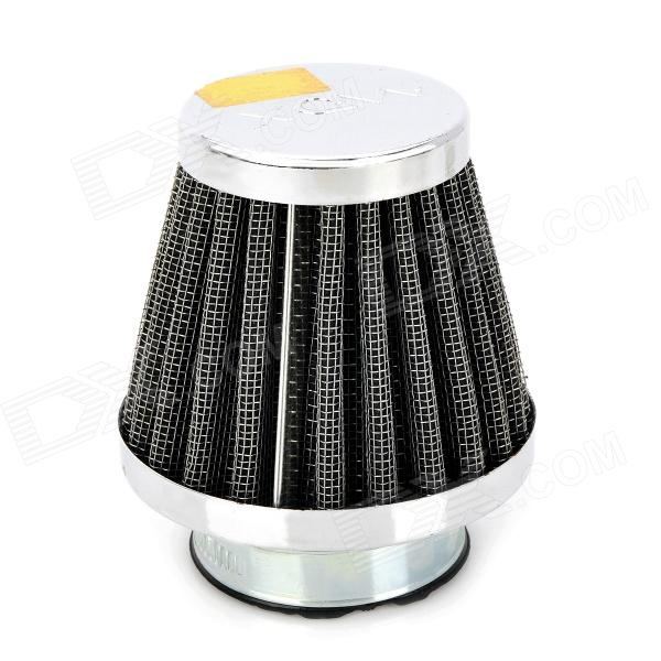 39mm Diameter Steel Wire Mesh Air Filter for Motorcycle / Off-road Vehicle - Silver + Black new 120 mesh 125 micron stainless steel woven wire cloth screen filter 30x90cm for home diy tools