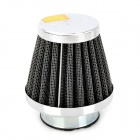 39mm Diameter Steel Wire Mesh Air Filter for Motorcycle / Off-road Vehicle - Silver + Black
