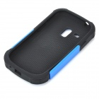 Protective Silicone + PC Case for Samsung Galaxy S3 Mini - Black + Blue