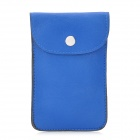 Stylish PU Leather Carrying Shoulder Bag Pouch for Iphone 5 - Blue