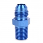 ZJT-2Z Aluminum Alloy 6# Thread Oil Cooler Adapter - Blue