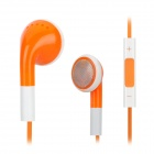 8001 Stylish In-Ear Earphones w/ Mic / Remote - Orange + White (3.5mm Plug / 112cm)