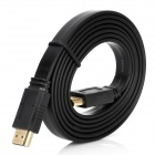 HDMI V1.4 Male to Male Flat Connection Cable - Black (150cm)
