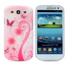 Hotsion s93-05-fh Flower Art Pattern Protective Plastic Back Cover Case for Samsung i9300 - Pink
