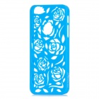 Stylish Newtons Hollow Rose Patterns Protective PC Back Cover Case for Iphone 5 - Blue