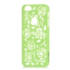 Stylish Newtons Hollow Rose Patterns Protective PC Back Cover Case for Iphone 5 - Light Green