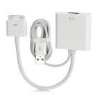 CY IP-054 30-pin to HDMI Adapter Cable w/ USB Power Supply for iPad / iPhone - White