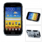 Protective Plastic Case w/ Foldable Holder for Samsung i9220 - Grey
