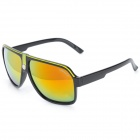 OREKA AB2991 Fashion UV Protection Coating Film PC Lens Sunglasses - Black + Yellow
