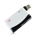 SSK SCRM-010 USB 2.0 TF / SD / MS / CF Card Reader - Black + White