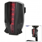 2-Mode 5-LED Red Light Wireless Laser Bicycle Brake / Tail Light - Black + Red
