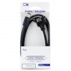 CY FW-013 1394 Firewire 6p to 6p DV Data Cable w/ Screw Hole - Black (100cm)
