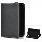"Lichee Pattern Protective Flip-Open PU Leather Case for 7"" Tablet PC - Black"