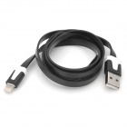 Lightning Male to USB 2.0 Male Data / Charging Flat Cable for iPhone 5 / iPad 4 - Black (103cm)