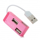 G-H918 480Mbps USB 2.0 4-Port HUB - Deep Pink (5cm-Cable)