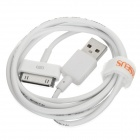 BASEUS CAAPPRO-02 USB to Apple 30 Pin Data Cable for iPhone 4 / 4S / iPad - White (120cm)