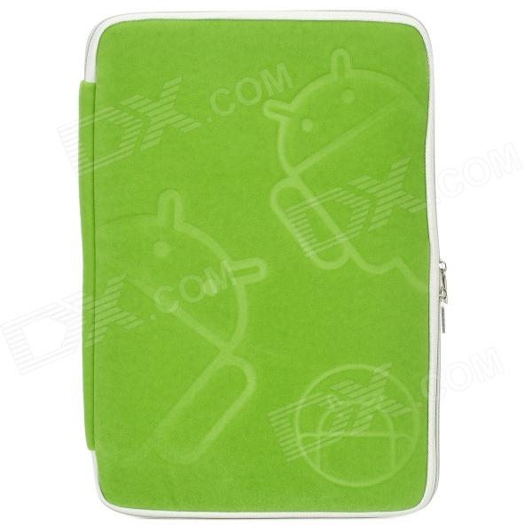 Android Robot Pattern Protective Lint Cloth Bag Pouch for Samsung N800 / 10.1