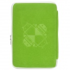 "Android Robot Pattern Protective Lint Cloth Bag Pouch for Samsung N800 / 10.1"" Tablet PC - Green"