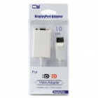 CY DP-047 Active Eyefinity Male DisplayPort to VGA Data Cable - White (10cm)